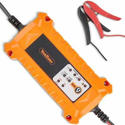VonHaus 4A Battery Charger with Advanced Car / Vehicle Battery Diagnostics