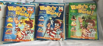 Wally's World Magazine Collection - 3 Binders Containing 39 Individual Magazines
