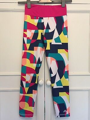 Adidas Bright Patterned Leggings. Age 11-12 Yrs.
