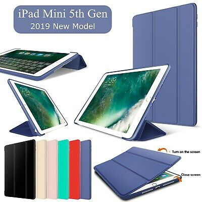 For iPad Mini 5 2019 Case Folding Stand Magnetic Smart Leather Thin Rubber Cover