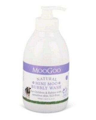 MooGoo Mini Moo Bubby Body Wash 500ml mild/non irritation cleanser Babies/Child
