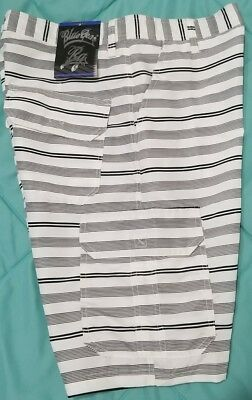 New Black & White Board Shorts Mens size 32 by Blue Gear Summer~Vacation~Beach