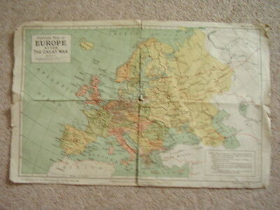 original Political Map of Europe after the Great War,Third edition ,march 1920