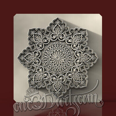 3D Model STL for CNC Router Artcam Aspire Wall Panel Mandala Decor Cut3D Vcarve