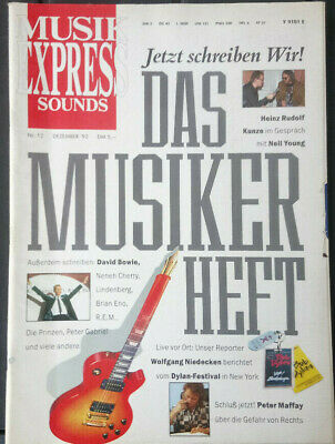 Musik Express Sounds 12-1992 - David Bowie, Wolfgang Niedecken, Peter Maffay