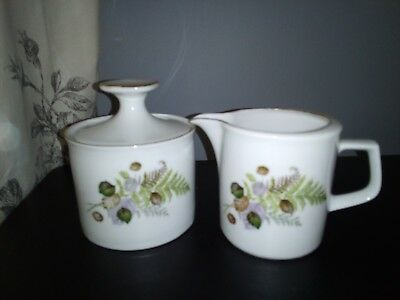 Vintage German Winterling Matching Sugar Bowl And Milk Jug/Creamer