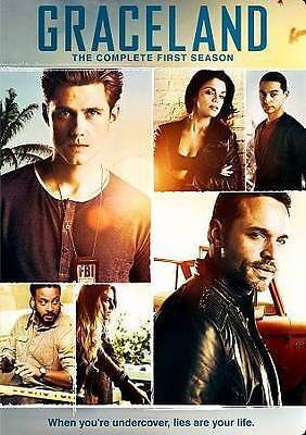 Graceland: The Complete First Season (DVD, 2014, 3-Disc Set) Free Shipping