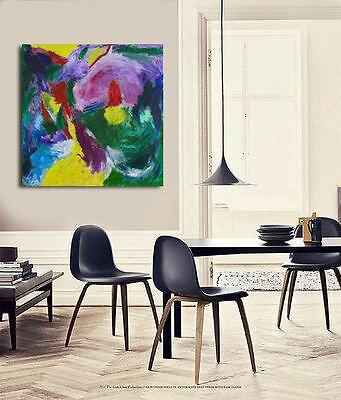 CONTEMPORARY Art,Abstract Painting, Acrylic on Canvas, modern Walldecor, INTENSE