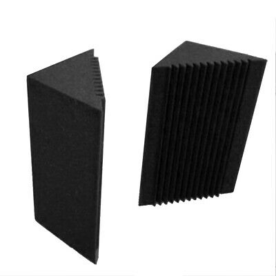 4x Small Bass Trap Put in the Corner Wall Good Soundproof Foam for Studio Black