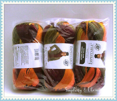 Loops & Threads Impeccable Yarn,  Falling Leaves (Lot of 3)