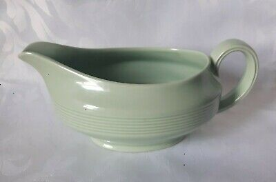 Wood & Sons Woods Ware Beryl Gravy Boat Ironstone China Sauce Custard Jug Green