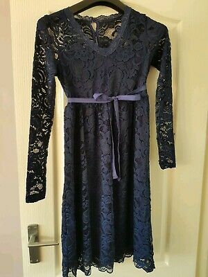 Mamalicious Maternity Dress Lace Special Occasion Green Party Wedding Guest £40