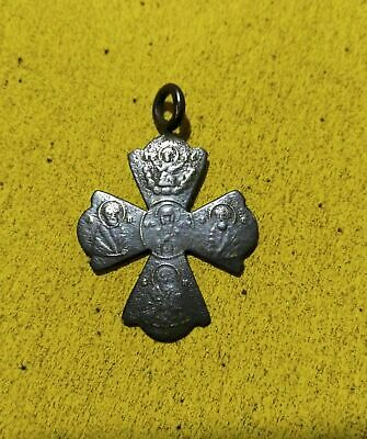 Ancient bronze cross, orthodox type of the seventeenth century.
