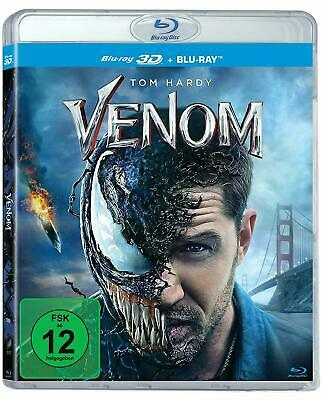 VENOM [Blu-ray 3D + 2D] (2018) Exclusive German 3D Import Tom Hardy Marvel Movie