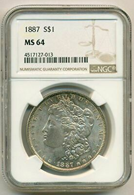 1887 Morgan Silver Dollar MS64 NGC
