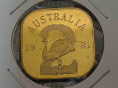 Australia 1921 George V Square Flan Pattern Twopence UNC