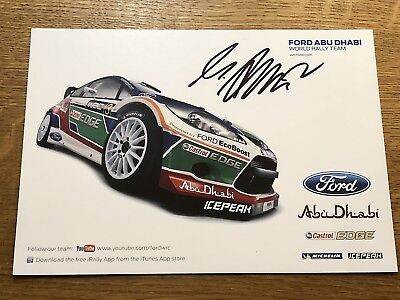 753f99b140a Mikka Antilla Signed M-Sport Ford World Rally Team Wrc Official Photocard