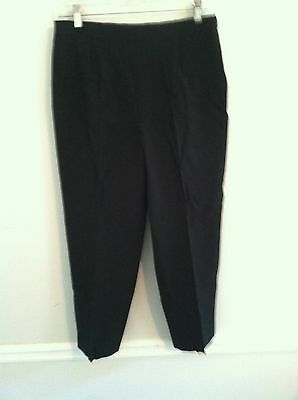 Nice Talbots Stretch women's size 6 black capris pants casual dress cropped used