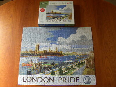 POMEGRANATE PUZZLE England By Rail : London Pride - 1000 Piece Jigsaw - Complete