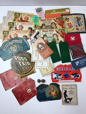 33 Pc Vintage Sewing Needle Books Mending Kits Advertising Germany Japan Thimble