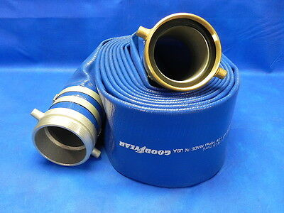 "Good Year Spiraflex 50 PSI Compound Discharge Hose Assembly Blue 4"" x 25'"