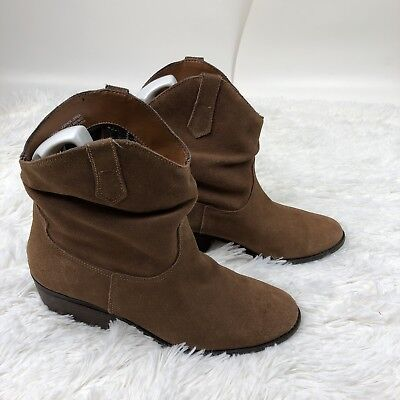 c3e0104f00fa6 White Mountain Womens Size 9M Brown Slammin Suede Western Ankle Boots 6P