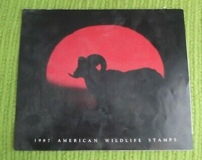 1987*NORTH AMERICAN WILDLIFE* 50 Stamps Full Sheet*Display Folder & Info Sheet.
