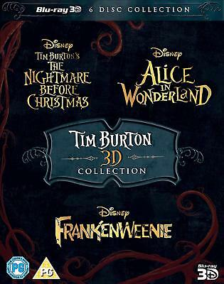 Tim Burton 3D Collection (Blu-ray, 6 Discs, Region Free) *NEW/SEALED*