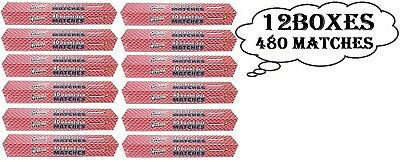 "12 Boxes (480 Matches) Quality Home Barbeque and Fireplace Extra Long 11"" Matche"