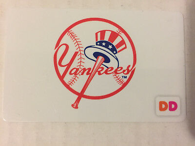 Dunkin Donuts Ny New York Yankees Rechargable Gift Card *no Value* Coffee #1