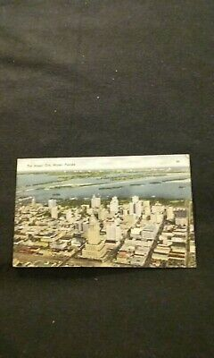 The Magic City of Miami Florida Population Growth on Back - Old Postcard 1944 PM