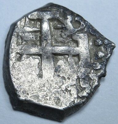 1762 Potosi Spanish Silver 1/2 Reales Piece of 8 Real Colonial Cob Treasure Coin