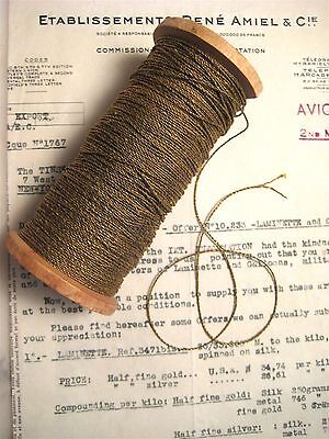 4 yds 2 Ply Vintage Antique French Gold Metallic Twisted Rope Cord Trim 1/32""""