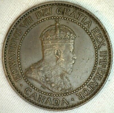 1909 Copper Canadian Large Cent Coin 1-Cent Canada XF K5