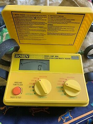 Used Robin Insulation Continuity Tester Kmp 3050
