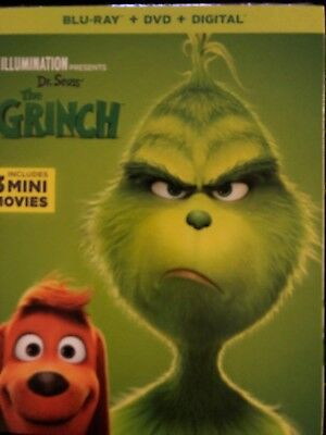 Dr.seuss The Grinch(Blu-Ray+Dvd+Digital)W/slipcover New
