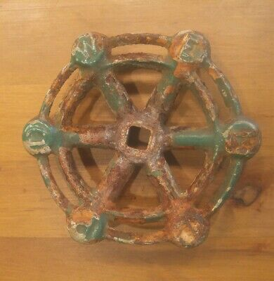 Vintage Rusty Cast Iron Powell Valve Handle Steampunk Garden