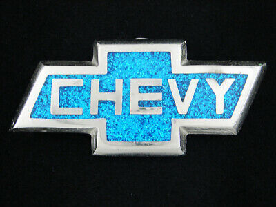 RH09123 VINTAGE 1970s **CHEVY** CHEVROLET LOGO COMMEMORATIVE BELT BUCKLE