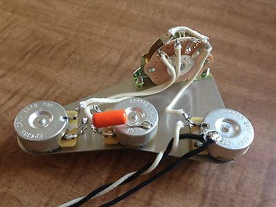 Stratocaster Wiring Harness for Fender 250k CTS Pots Orange Drop 5 Way