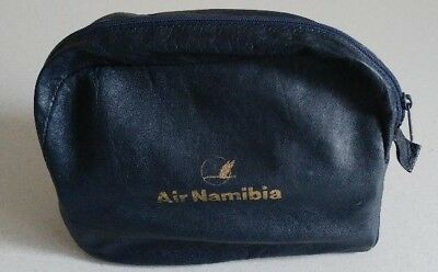 Air Namibia Vintage Soft Leather Toiletry Bag - Very Rare!