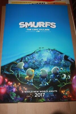 Original Movie Poster SMURFS THE LOST VILLAGE advance DS 1sh 2017