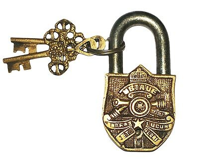 A Unique & Unusual Brass Made British Cannon Figure PADLOCK with 2 keys INDIA