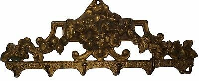 An unusual vintage Brass made unique Flowers classical Designed Coat hook INDIA