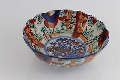 Japanese Imari  Meiji Period  Scalloped Bowl 13x5cm