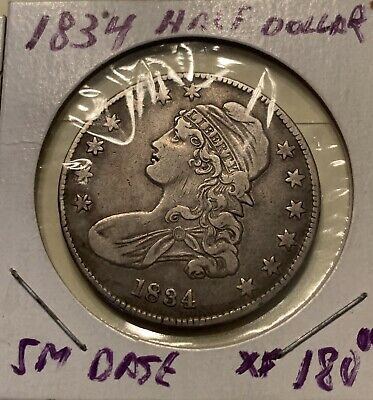 1834 Small Date Capped Bust Half Dollar Looks XF !