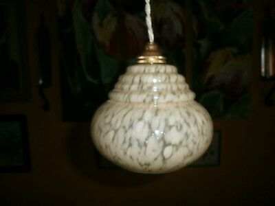 BEIGE Globe light shade, replacement glass shade, Art Deco, French, Vintage.