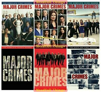 Major Crimes - The Complete Series DVD Seasons 1 2 3 4 5 & 6 New Sealed Set 1-6