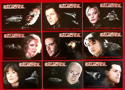 BATTLESTAR GALACTICA - Premiere Edition - Complete ROLL CALL Chase Set (9 Cards)