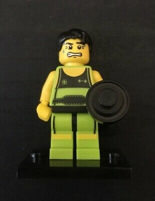 LEGO THE WEIGHTLIFTER minifigure THE LEGO MINIFIGURE SERIES 2 missing weights Zabawki konstrukcyjne LEGO Zabawki konstrukcyjne
