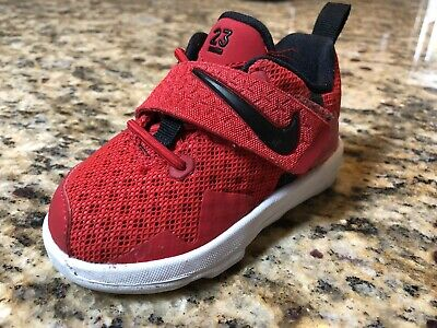 3db147f8d355 NIKE LEBRON JAMES Baby Shoes Red White Black Size 5c -  8.60
